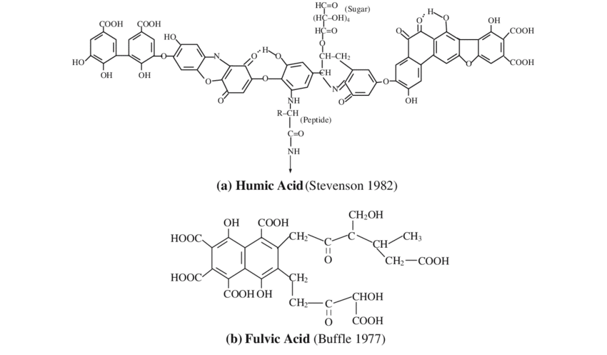 humic acid and fulvic acid chart
